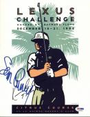 """Sean Connery & Kevin Costner """"Tin Cup"""" Signed 8.5X11 Program Cover PSA #T08868"""