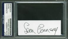 Sean Connery Signed 1.25x3.5 Cut Autograph PSA/DNA Slabbed