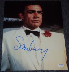 Sean Connery Signed Autograph James Bond Classic Suit 11x14 Photo Psa/dna V04589