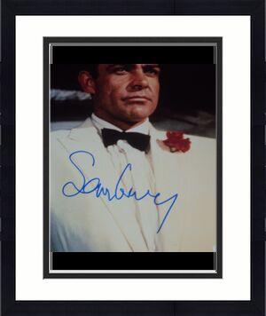 Sean Connery Signed Autograph James Bond Classic Suit 11x14 Photo Psa/dna V04589