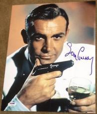 Sean Connery Signed Autograph James Bond Gun Poster 11x14 Photo Psa/dna V14242