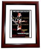 Sean Connery Signed - Autographed 007 James Bond 8x10 inch Photo MAHOGANY CUSTOM FRAME - Guaranteed to pass PSA or JSA