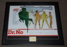 Sean Connery Signed Framed 32x39 Dr No Poster Display JSA LOA James Bond