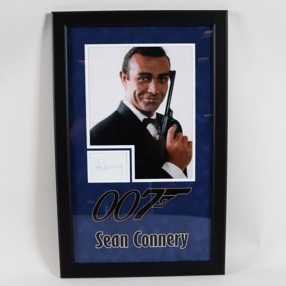 Sean Connery Signed Photo Cut Display James Bond 007 – COA BAS
