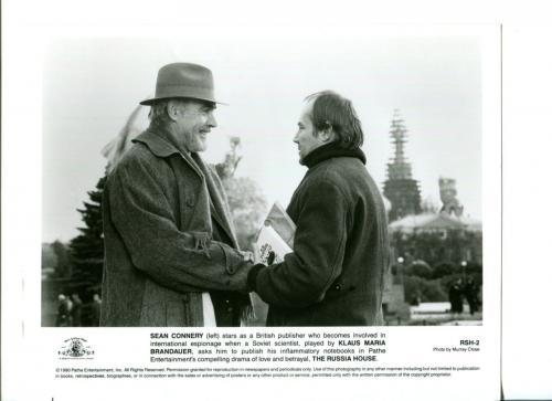 Sean Connery Klaus Maria Brandauer The Russia House Press Still Movie Photo
