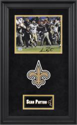 Sean Payton Signed Picture - New Orleans Saints Deluxe Framed 8x10 Team Logo Mounted Memories