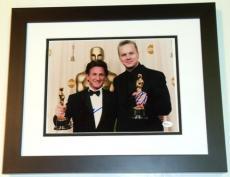 Sean Penn and Tim Robbins Autographed 8x10 Photo BLACK CUSTOM FRAME