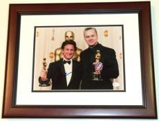 Sean Penn and Tim Robbins Autographed 8x10 Photo MAHOGANY CUSTOM FRAME
