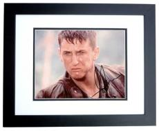Sean Penn Autographed 8x10 Photo BLACK CUSTOM FRAME