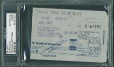 Sean Penn Signed 3.25X4.75 Receipt Autographed PSA/DNA Slabbed