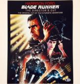 SEAN YOUNG Auto BLADE RUNNER Signed 11x14 Movie Poster Photo w/ BAS Beckett COA