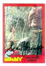 Sean Young autographed Baby card 1985 Topps #32