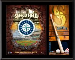Seattle Mariners Sublimated 12'' x 15'' Team Logo Plaque - Mounted Memories