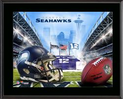 "Seattle Seahawks 12th Fan Sublimated 10.5"" x 13"" Plaque"