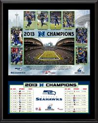 Seattle Seahawks 2013 NFC Champions Sublimated 12'' x 15'' Plaque - Mounted Memories