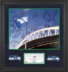 Seattle Seahawks Super Bowl XLVIII Champions 16'' x 20'' Team-Signed Framed Photo