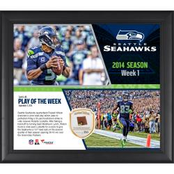 Seattle Seahawks Banner Night vs. the Green Bay Packers Framed 15'' x 17'' Collage with Game-Used Ball - Limited Edition of 250