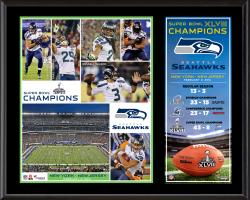 Seattle Seahawks Super Bowl XLVIII Champions Sublimated 12'' x 15'' Plaque - Mounted Memories