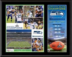 "Seattle Seahawks Super Bowl XLVIII Champions Sublimated 12"" x 15"" Plaque"