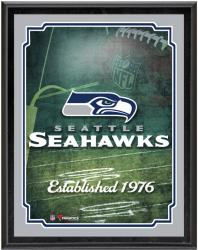 "Seattle Seahawks Team Logo Sublimated 10.5"" x 13"" Plaque - Mounted Memories"