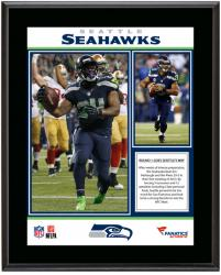 Seattle Seahawks Win Over San Francisco 49ers Sublimated 10.5'' x 13'' Plaque - Mounted Memories
