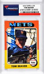 SEAVER, TOM AUTO (1975 TOPPS 3 370) CARD - Mounted Memories