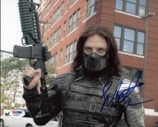 Sebastian Stan Captain America Signed 8X10 Photo PSA/DNA #Y18972