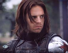 Sebastian Stan Captain America The Winter Soldier Signed 11x14 Photo BAS #C63736