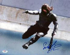 Sebastian Stan Captain America The Winter Soldier Signed 11X14 Photo PSA #Y92752