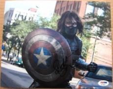 Sebastian Stan Captain America The Winter Soldier signed 8x10 photo PSA/DNA auto