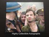 Sebastian Stan Signed 11x14 Photo Autograph Psa Captain America Winter Soldier