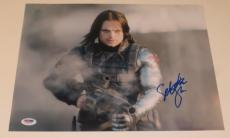 Sebastian Stan Signed 11x14 Photo Autograph Winter Solider Captain America Psa A