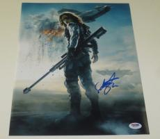 Sebastian Stan Signed 11x14 Photo Autograph Winter Solider Captain America Psa B