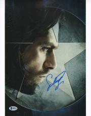 Sebastian Stan Signed 11x14 Photo BAS Beckett COA Captain America Movie Picture