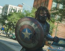 Sebastian Stan Signed 11x14 Photo BAS Beckett COA Captain America Picture Auto'd