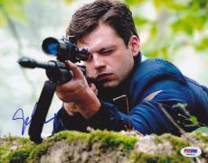 Sebastian Stan SIGNED 8x10 Photo Bucky Captain America PSA/DNA AUTOGRAPHED