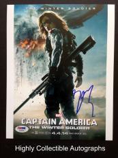 Sebastian Stan Signed 8x10 Photo Psa Dna Coa Captain America The Winter Soldier