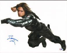 "SEBASTIAN STAN Signed Autographed ""Captain America"" 11x14 Photo PSA/DNA #AB46940"