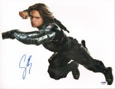 "SEBASTIAN STAN Signed Autographed ""Captain America"" 11x14 Photo PSA/DNA #AB46941"