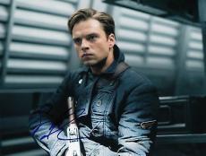 Sebastian Stan signed Captain America: The Winter Soldier 8x10 photo w/coa #3