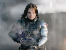 Sebastian Stan signed Captain America: The Winter Soldier 8x10 photo w/coa #9