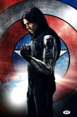SEBASTIAN STAN Signed Captain America Winter Soldier 11x17 Photo PSA/DNA AD93194