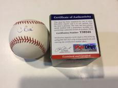 Condoleezza Rice Signed Baseball - Secretary of State Official OMLB PSA DNA COA a