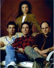 Jerry Seinfeld, Jason Alexander, Julia Louis-Dreyfus Autographed 11'' x 14'' Photograph