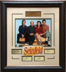 Seinfeld Cast 11x14 Framed Photo Laser Engraved Signature Cut Logo 24x27