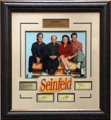 Seinfeld Cast 11x14 Framed Photo Laser Engraved Signature Cut Logo 24x27