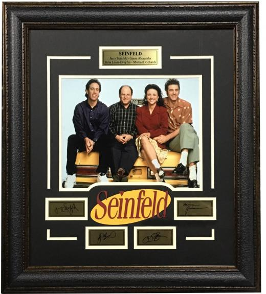Seinfeld Cast 11x14 Framed Photo Laser Engraved Signature Cut Logo 25x28