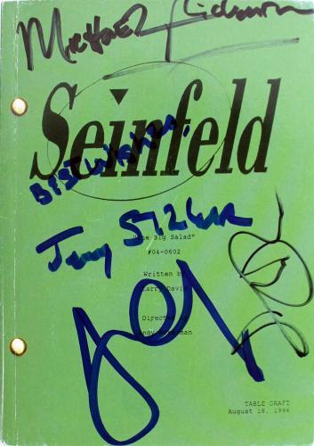 Seinfeld Cast (4) Seinfeld, Louis-Dreyfuss +2 Signed 5.35x7.5 Script BAS #A05150