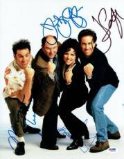 Seinfeld Cast (4) Signed Authentic Autographed 11x14 Photo PSA/DNA #W02048