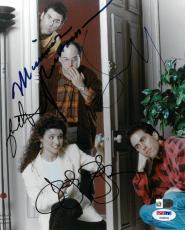Seinfeld Cast (4 Sigs) Signed Authentic Autographed 8x10 Photo PSA/DNA #AC00344